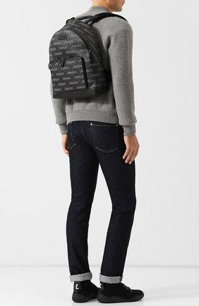 Рюкзак с отделкой из кожи | Фото №2