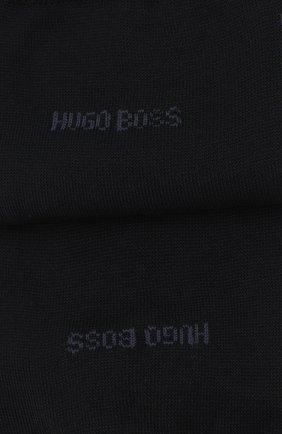 Мужские хлопковые носки BOSS темно-синего цвета, арт. 50388433 | Фото 2