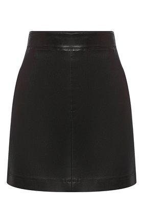 Женская кожаная мини-юбка HELMUT LANG черного цвета, арт. G09HW303 | Фото 1