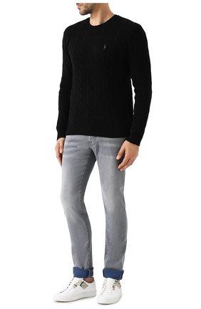 Мужской джемпер из смеси шерсти и кашемира POLO RALPH LAUREN черного цвета, арт. 710719546 | Фото 2