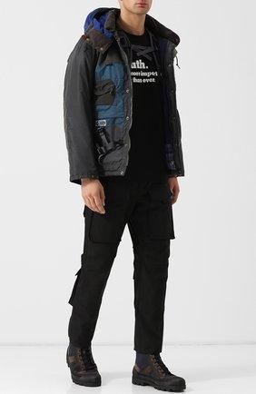 Утепленная куртка на молнии с капюшоном Junya Watanabe x Karrimor Junya Watanabe серая | Фото №1