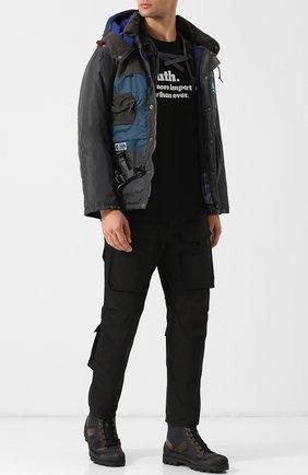 Однотонные брюки-карго прямого кроя Junya Watanabe черные | Фото №1
