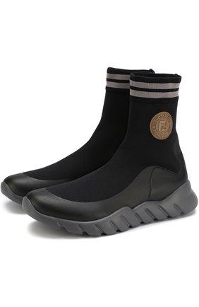 Высокие текстильные кроссовки | Фото №1