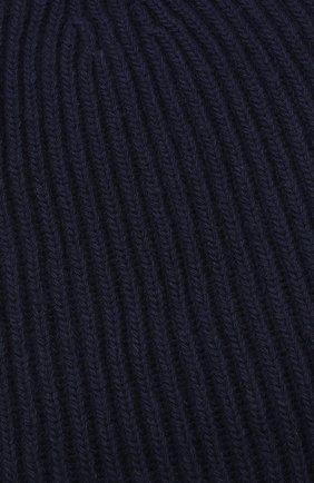 Шапка из смеси шерсти и кашемира Erika Cavallini синего цвета   Фото №3