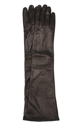 Удлиненные кожаные перчатки   Фото №1