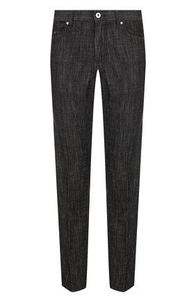 Джинсы прямого кроя Zegna Couture черные | Фото №1