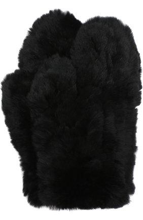 Варежки из меха кролика | Фото №1