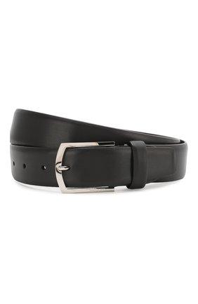 Мужской кожаный ремень с металлической пряжкой BARRETT черного цвета, арт. 31B336.18/C0RSAR0 | Фото 1