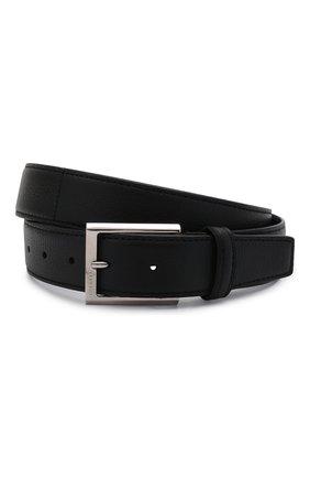 Мужской кожаный ремень с металлической пряжкой BARRETT черного цвета, арт. 61B507.1/CERV0 | Фото 1
