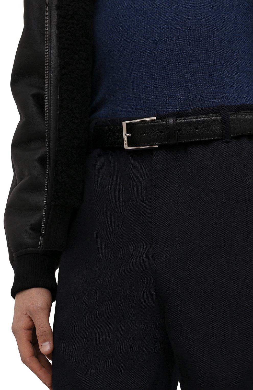 Мужской кожаный ремень с металлической пряжкой BARRETT черного цвета, арт. 61B507.1/CERV0 | Фото 2 (Случай: Формальный; Статус проверки: Проверено, Проверена категория)