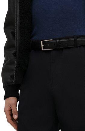 Мужской кожаный ремень с металлической пряжкой BARRETT черного цвета, арт. 61B507.1/CERV0 | Фото 2