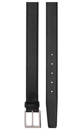 Мужской кожаный ремень с металлической пряжкой BARRETT черного цвета, арт. 61B507.1/CERV0 | Фото 3 (Случай: Формальный; Статус проверки: Проверено, Проверена категория)
