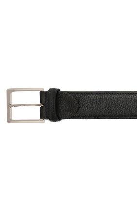 Мужской кожаный ремень с металлической пряжкой BARRETT темно-синего цвета, арт. 61B507.3/CERV0 ASP0RTABILE | Фото 3 (Случай: Формальный; Статус проверки: Проверено, Проверена категория)