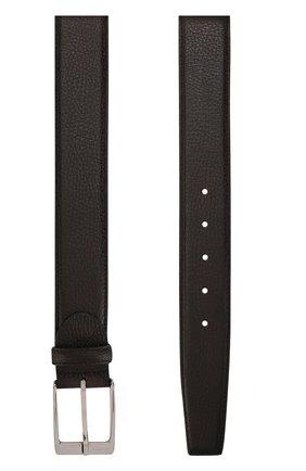 Кожаный ремень с металлической пряжкой Barrett коричневый | Фото №1
