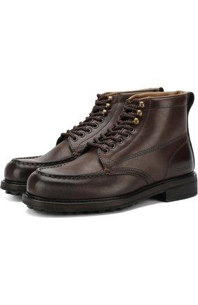 Мужские кожаные ботинки TOM FORD коричневого цвета, арт. J1072R-VCL | Фото 1 (Подошва: Плоская; Статус проверки: Проверено, Проверена категория; Мужское Кросс-КТ: Ботинки-обувь)