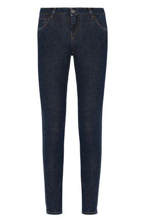 Женские джинсы с контрастной прострочкой  DOLCE & GABBANA темно-синего цвета, арт. FTAH7D/G981B | Фото 1