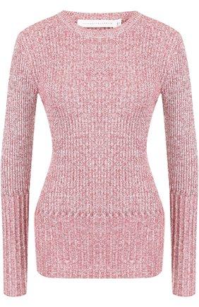 Вязаный пуловер с круглым вырезом из смеси шерсти и льна | Фото №1
