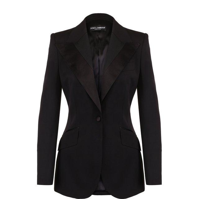 Приталенный жакет из смеси шерсти и шелка Dolce & Gabbana