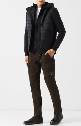Высокие кожаные кеды с внутренней меховой отделкой Barrett коричневые | Фото №1