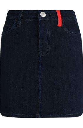 Джинсовая мини-юбка Current/Elliott синяя   Фото №1