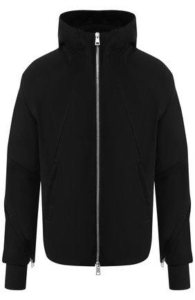 Куртка из смеси хлопка и шерсти на молнии с капюшоном    Фото №1