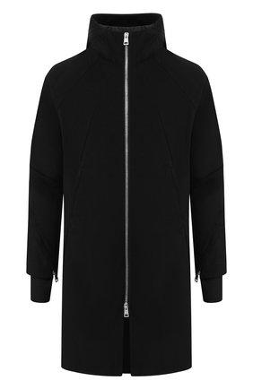 Пальто из смеси хлопка и шерсти на молнии   Фото №1