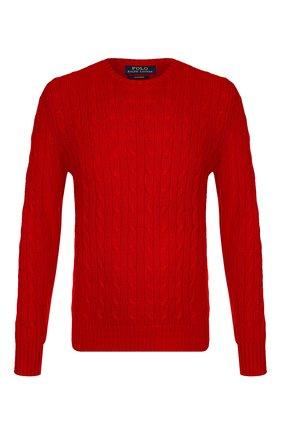Мужской кашемировый джемпер POLO RALPH LAUREN красного цвета, арт. 710613099 | Фото 1