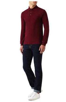 Мужское хлопковое поло POLO RALPH LAUREN бордового цвета, арт. 710717285 | Фото 2