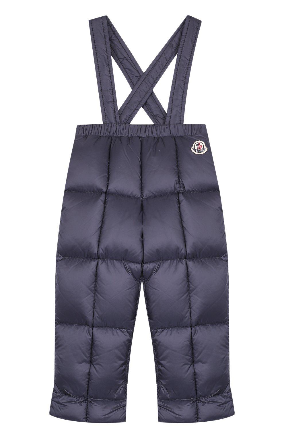 Детский комплект из пуховой куртки и комбинезона на подтяжках MONCLER ENFANT темно-синего цвета, арт. D2-951-70336-25-53048 | Фото 3