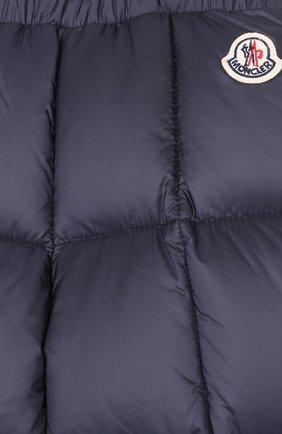 Детский комплект из пуховой куртки и комбинезона на подтяжках MONCLER ENFANT темно-синего цвета, арт. D2-951-70336-25-53048 | Фото 4