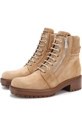Замшевые ботинки Army на шнуровке | Фото №1