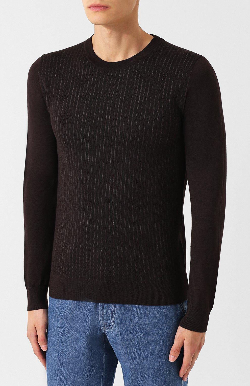 Джемпер из смеси шелка и шерсти с кашемиром | Фото №3
