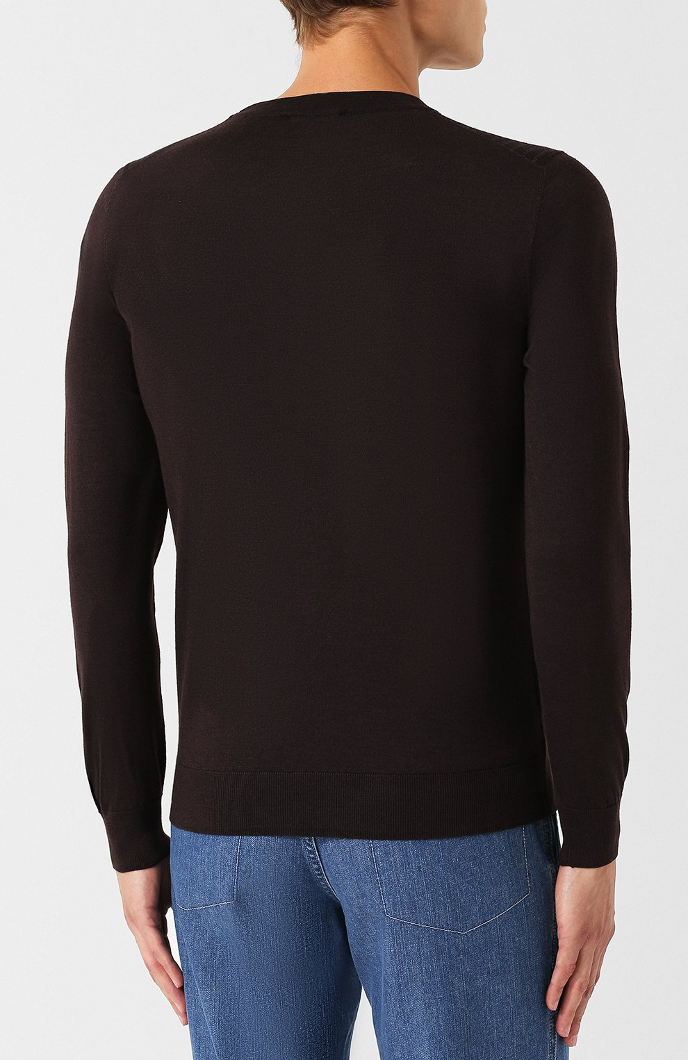 Джемпер из смеси шелка и шерсти с кашемиром | Фото №4
