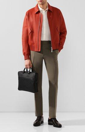 Мужской кожаный портфель  BOTTEGA VENETA черного цвета, арт. 516110/V4651   Фото 2
