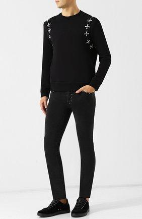 Однотонные джинсы-скинни Just Cavalli черные | Фото №1
