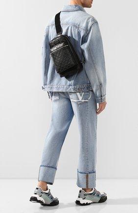 Мужской кожаный рюкзак gucci signature GUCCI черного цвета, арт. 523234/DMTDN   Фото 2