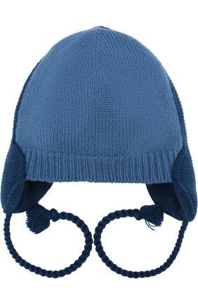 Кашемировая шапка с завязками-шнурками | Фото №1