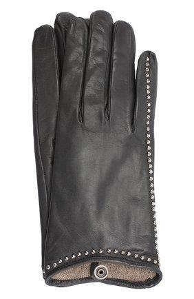 Кожаные перчатки с металлической отделкой | Фото №1