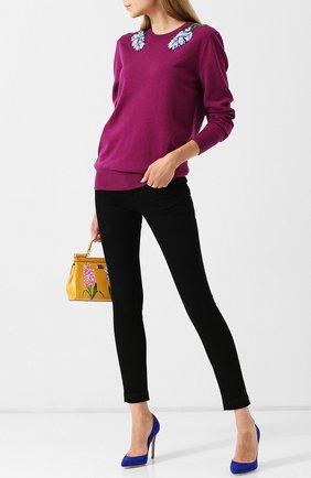 Женские джинсы DOLCE & GABBANA черного цвета, арт. FTAH7Z/G8T27   Фото 2