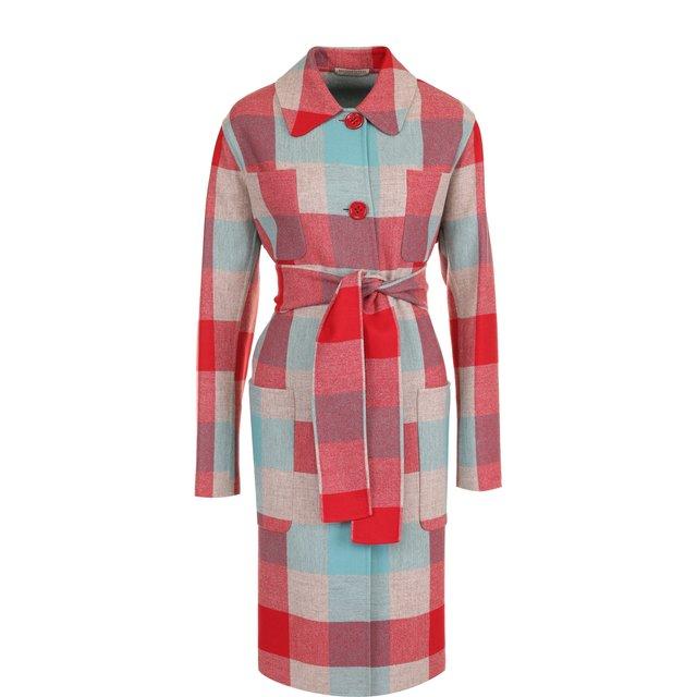 Пальто из смеси шерсти и кашемира с поясом Bottega Veneta