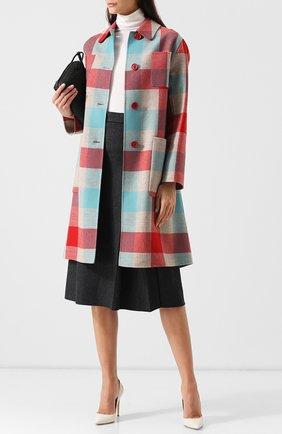Пальто из смеси шерсти и кашемира с поясом | Фото №2