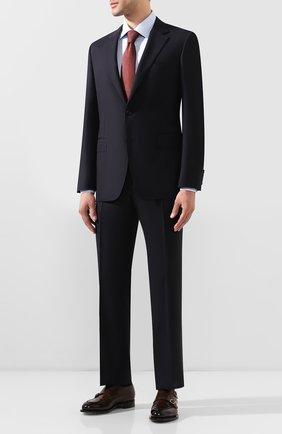 Мужской шерстяной костюм CANALI темно-синего цвета, арт. 11280/10/AA00099 | Фото 1