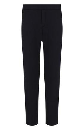 Мужские брюки из смеси хлопка и шерсти BOTTEGA VENETA темно-синего цвета, арт. 470798/VZZY5   Фото 1