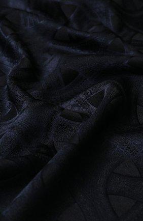Мужской шарф из смеси кашемира и шелка с принтом ZILLI черного цвета, арт. MIQ-ARTDE-0WSSE/0002 | Фото 2
