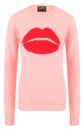 Шерстяной пуловер с декоративной вышивкой Markus Lupfer розовый | Фото №1