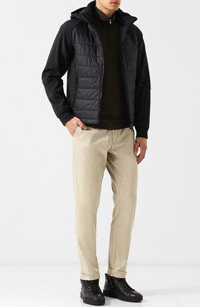Стеганая куртка на молнии с капюшоном C.P. Company черная | Фото №1