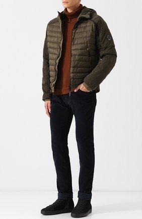 Стеганая куртка на молнии с капюшоном C.P. Company хаки | Фото №1
