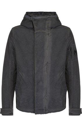 Куртка на молнии с капюшоном C.P. Company темно-зеленая | Фото №1