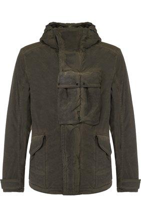 Куртка на молнии с капюшоном C.P. Company хаки | Фото №1