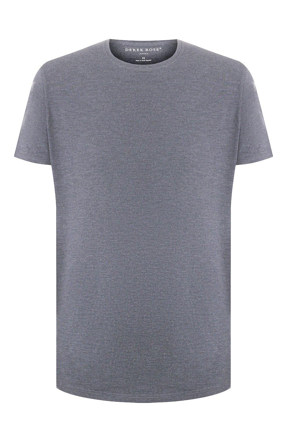 Мужская футболка DEREK ROSE серого цвета, арт. 3048-MARL001 | Фото 1